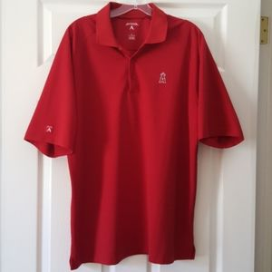 Antigua Red Angels Polo Shirt Men Size Large